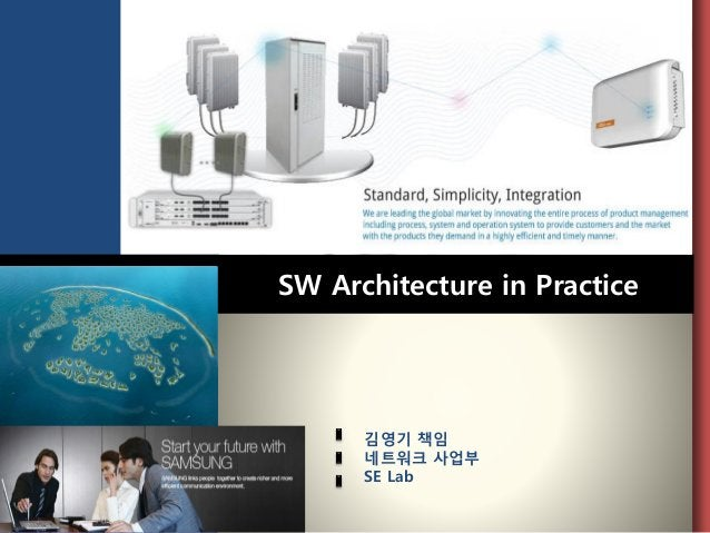 SW Architecture in Practice  김영기책임  네트워크사업부  SE Lab