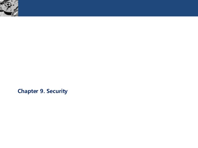 Chapter 9. Security