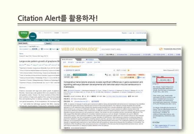 Citation Alert를 활용하자!