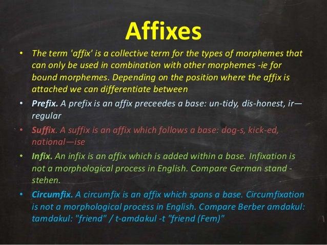 Morpheme Examples