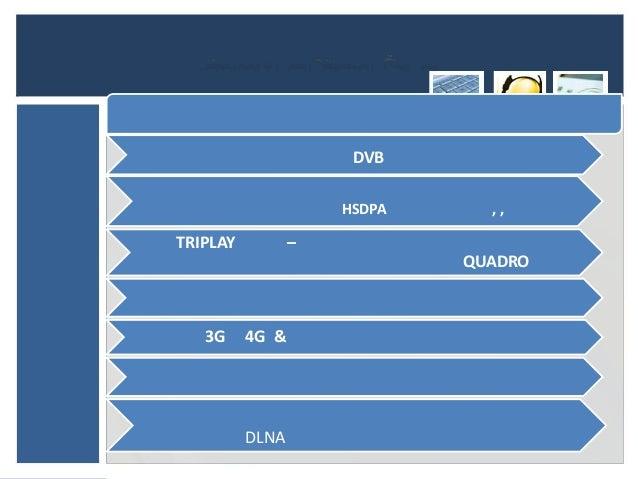 DVB                     HSDPA     ,,TRIPLAY          –                             QUADRO   3G     4G &          DLNA