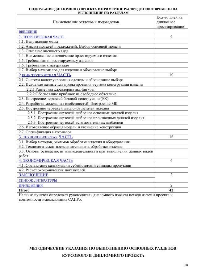 мк выполнение курсовых и дипломных СОДЕРЖАНИЕ ДИПЛОМНОГО ПРОЕКТА