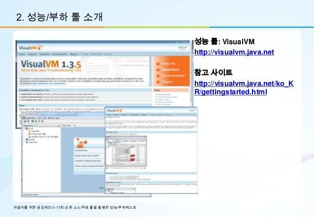 2. 성능/부하 툴 소개                                             성능 툴: VisualVM                                             http:...