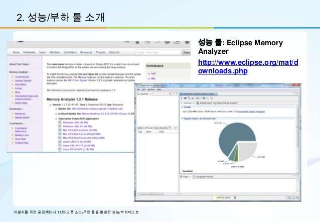 2. 성능/부하 툴 소개                                             성능 툴: Eclipse Memory                                            ...