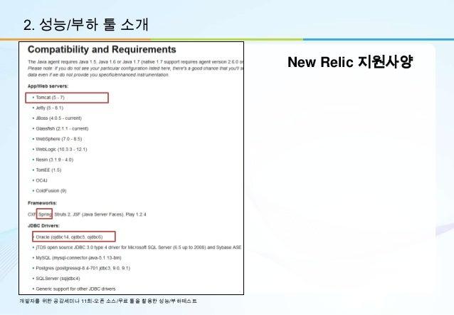 2. 성능/부하 툴 소개                                             New Relic 지원사양개발자를 위한 공감세미나 11회-오픈 소스/무료 툴을 활용한 성능/부하테스트