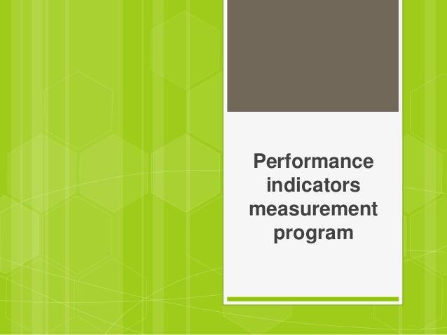 Performanceindicatorsmeasurementprogram