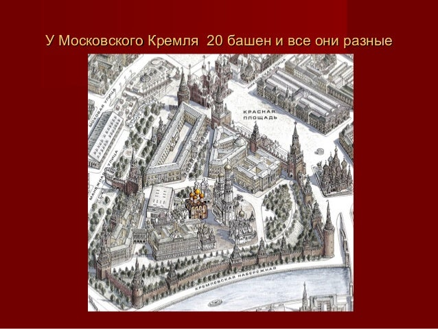 УУ Московского КремляМосковского Кремля 20 башен и все они разные20 башен и все они разные