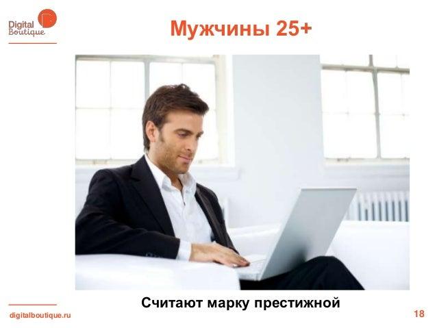digitalboutique.ruМужчины 25+18Считают марку престижной