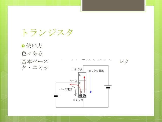 トランジスタ 使い方色々ある基本ベース・エミッタに電流を流すとコレクタ・エミッタに大電流が流れる