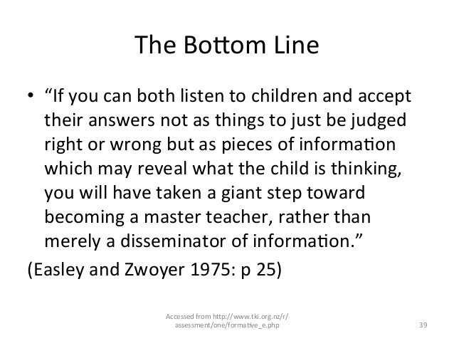 """The BoLom Line • """"If you can both listen to children and accept their answers not as thin..."""