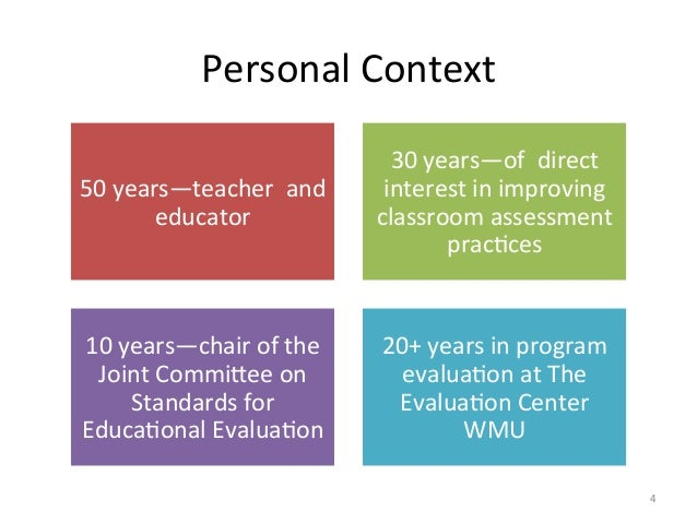 Personal Context 50 years—teacher  and educator 30 years—of  direct interest in improving clas...