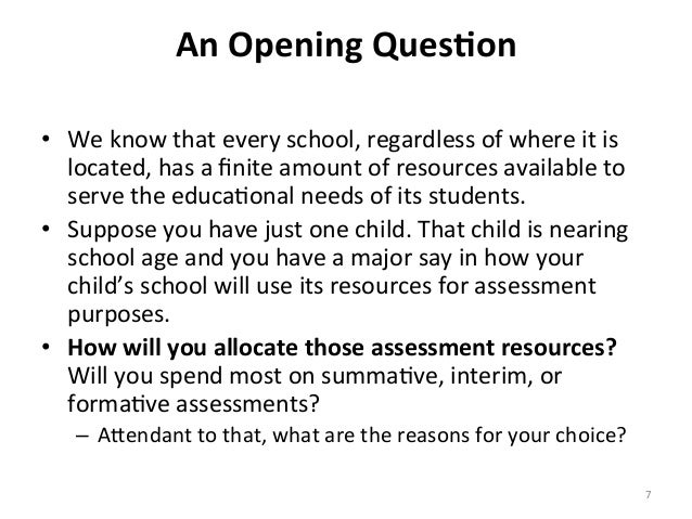 An Opening Ques4on  • We know that every school, regardless of where it is located, has a...