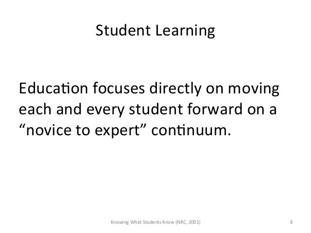 Student Learning   EducaAon focuses directly on moving each and every student forward on a...
