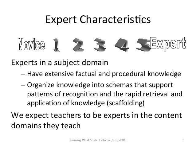 Expert CharacterisAcs  Experts in a subject domain –Have extensive factual and procedural knowl...