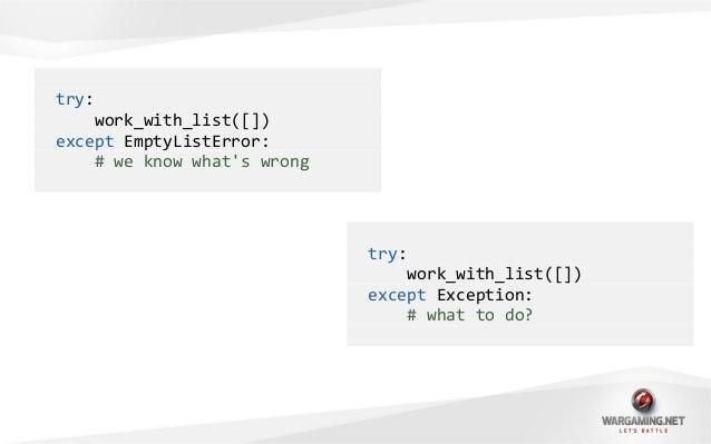 • Python знает, где истина.• 'is None' лучше, чем '== None'.• Всё объект!• Создавать свои собственные исключения круто.
