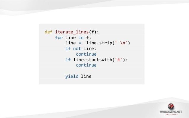 f = open(config.txt)try:for line in iterate_lines(f):do_some_staff(line)finally:f.close()