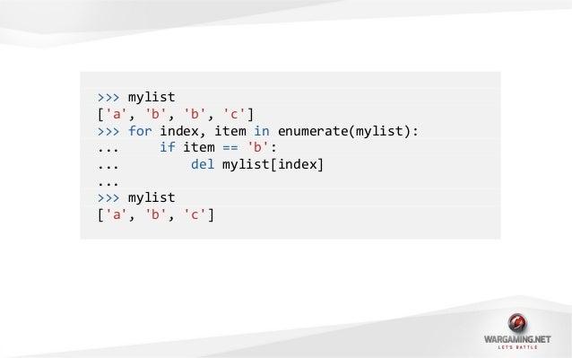 ">>> mydict{b: 2}>>> for key in mydict:... if key == b:... del mydict[key]...Traceback (most recent call last):File ""<stdin..."