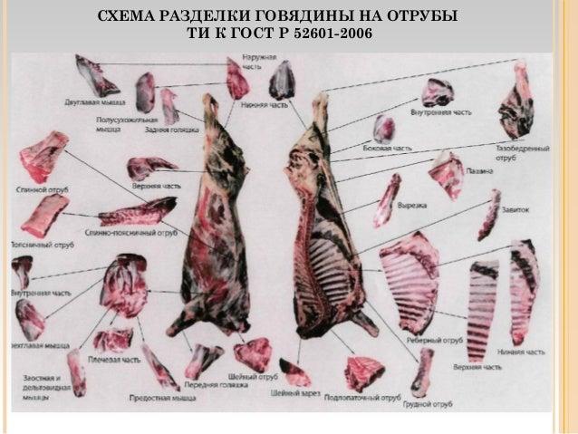 Гост р 52601-2006 мясо. Разделка говядины на отрубы. Технические.