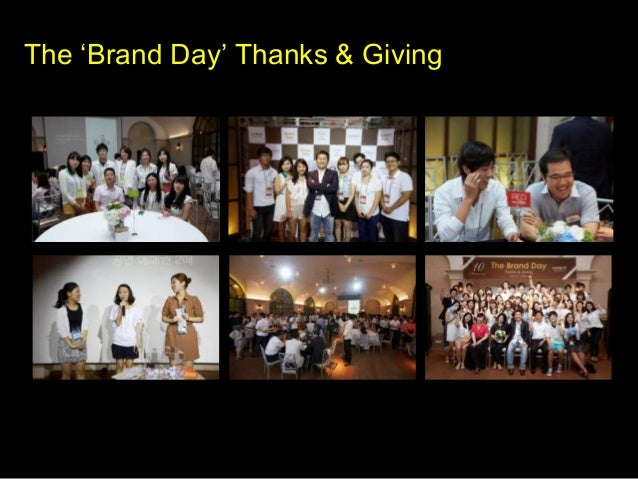 The 'Brand Day' Thanks & Giving