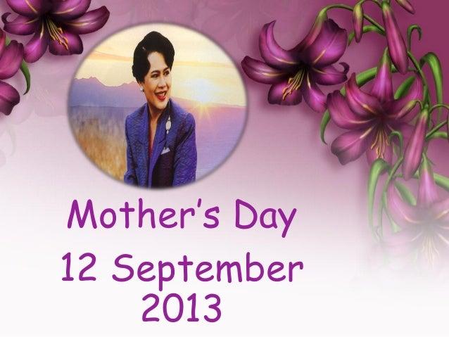 Mother's Day 12 September 2013