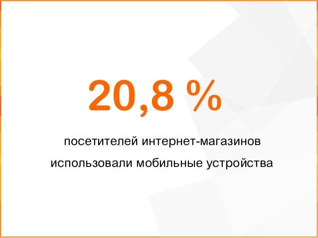 посетителей интернет-магазинов использовали мобильные устройства 20,8 %