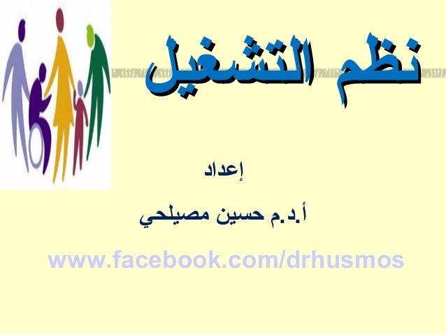 نظم التشغيل إعداد أ.د.م حسين مصيلحي www.facebook.com/drhusmos
