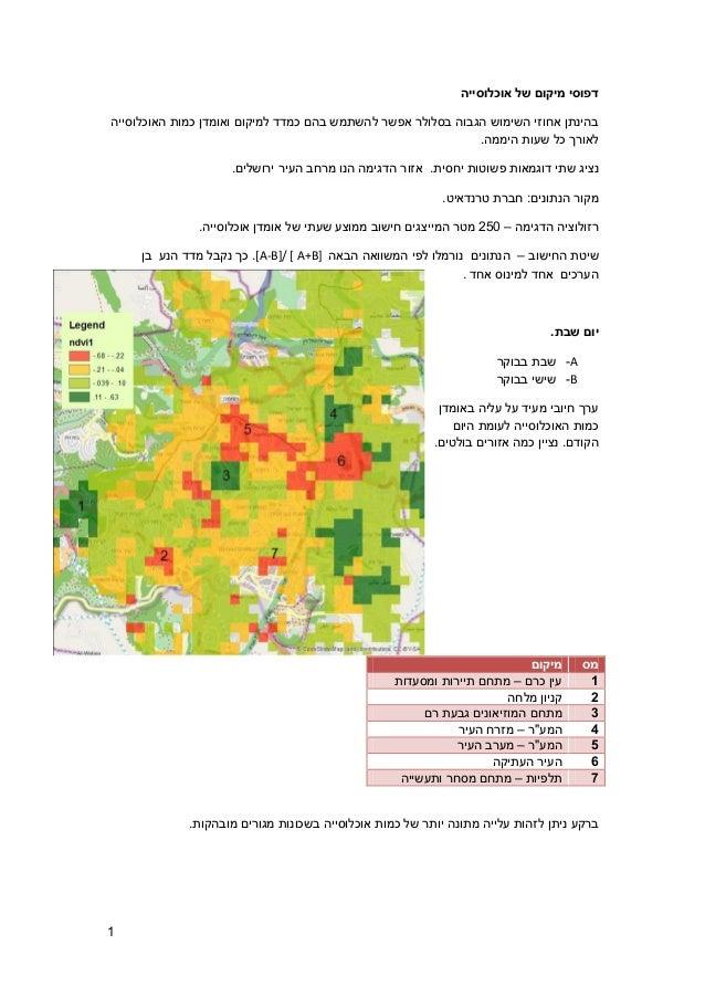 דפוסי מיקום של אוכלוסייה בהינתן אחוזי השימוש הגבוה בסלולר אפשר להשתמש בהם כמדד למיקום ואומדן כמות האוכלוסייה לאורך כל...