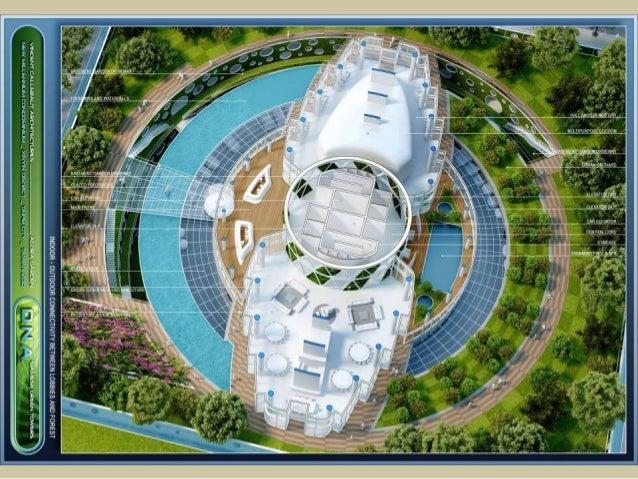 未來建築趨勢 1.呼應當地文化、融入地景、與自然和諧相處 2.極度重視自然的通風、採光和景觀,從建築的結構和材質做起 3.遮陽和隱私的重要性也不能忽略 4.大廣場、大花園、公共設施等,凝聚社區意識,人跟人之間要有互動 5.生活機能兼具,食衣住行...