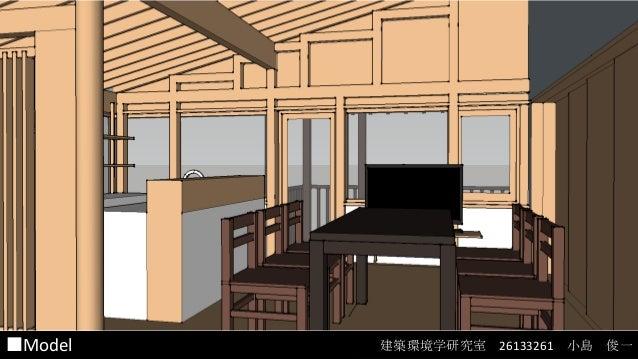 建築環境設計特論 ■Model  radianceを用いた光環境のシミュレーション 建築環境学研究室 26133261 小島 俊一