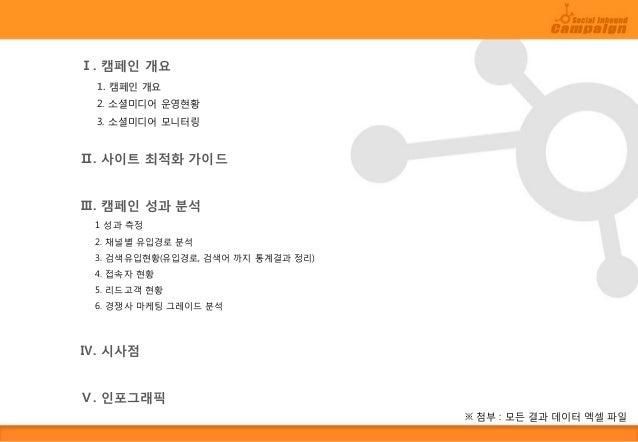 소셜 인바운드 마케팅 캠페인 샘플 보고서 Slide 2