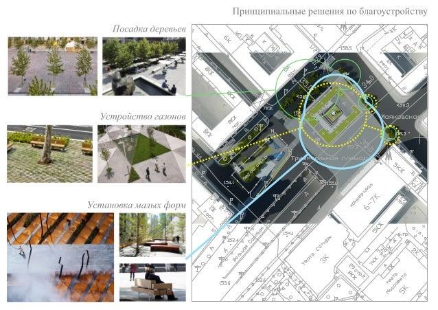 Триумфальная площадь. Концепция обустройства пешеходного пространтсва.