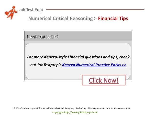 Preparation for kenexas numerical critical reasoning tests tips an numerical critical reasoning financial tips 17 fandeluxe Choice Image