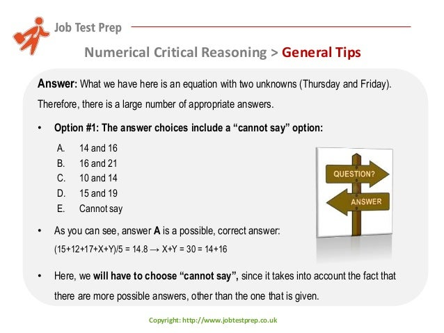 Critical Reasoning Test Numerical - Numerical reasoning online