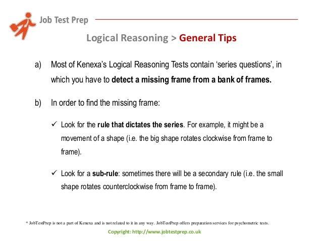 Preparation for Kenexa's Logical Reasoning Tests - Tips and Sample Qu…