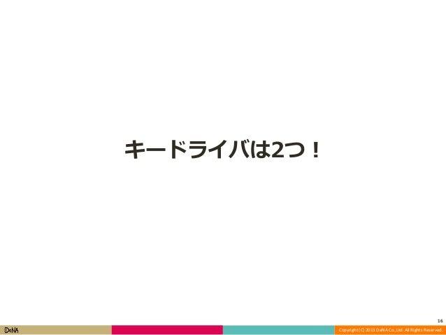 キードライバは2つ!  16 Copyright (C) 2013 DeNA Co.,Ltd. All Rights Reserved.
