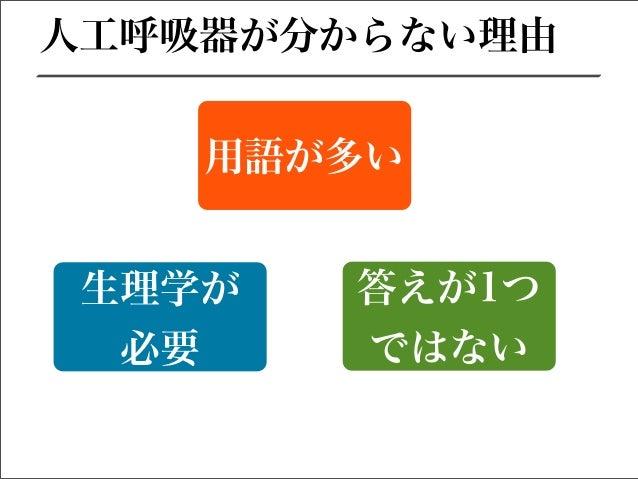 人工呼吸器の基本①〜酸素化〜 Slide 2