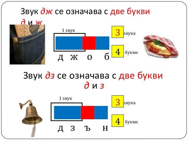 Звук дж се означава с две букви диж 1 звук 3 звука ?  д ж о  4 ? б  букви  Звук дз се означава с две букви диз 1 звук  д з...