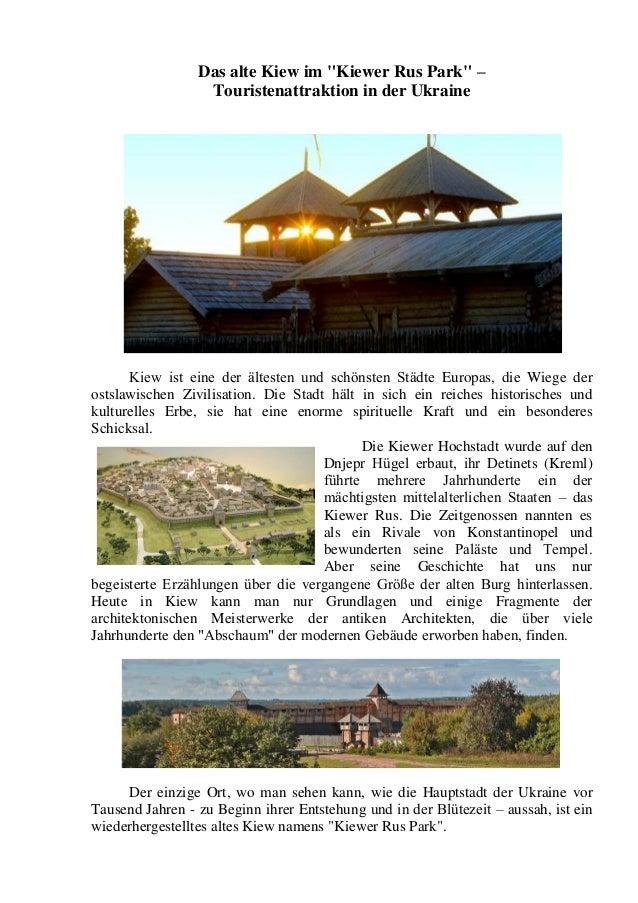 """Das alte Kiew im """"Kiewer Rus Park"""" – Touristenattraktion in der Ukraine  Kiew ist eine der ältesten und schönsten Städte E..."""