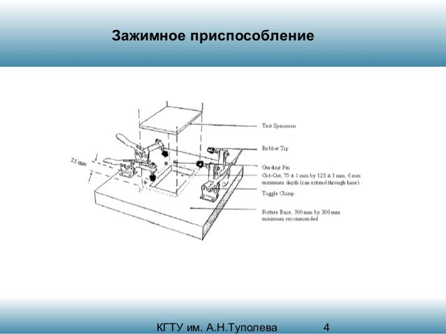 Зажимное приспособление  КГТУ им. А.Н.Туполева  4