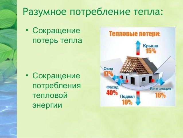 Разумное потребление тепла. Slide 3