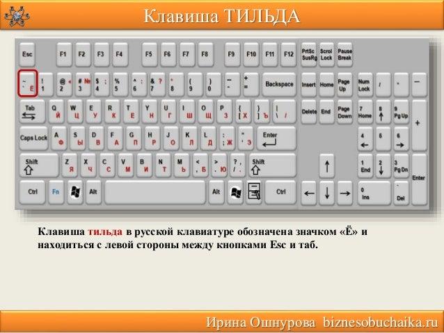 Что такое на клаве тильда