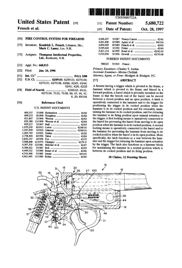 United States Patent [19] French et a]. 8US0056 0722A Patent Number: [45] Date of Patent: 5,680,722 Oct. 28, 1997 [11] [54...
