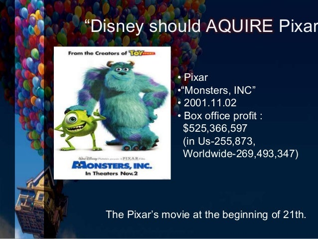 the walt disney company and pixar inc to acquire or not to acquire essay Download citation | the walt disney comp | this four-page update to the case, 'the walt disney company and pixar inc: to acquire or not to acquire' details the walt disney company's acquisition of pixar, including deal terms, executive appointments, and operating guidelines for the two stud.