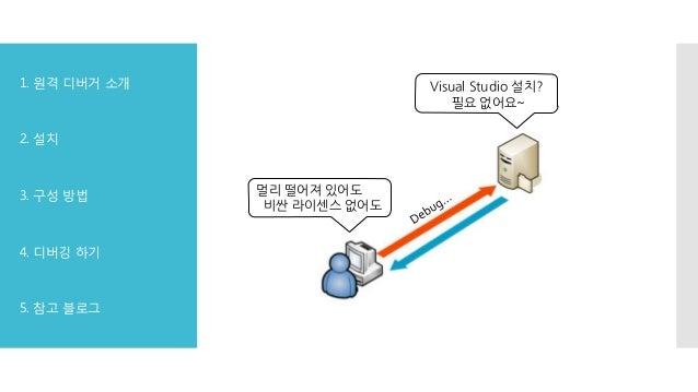 Visual Studio 2013 원격 디버깅 Slide 2