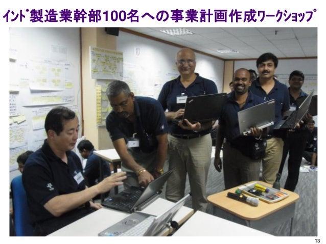インド製造業幹部100名への事業計画作成ワークショップ 13