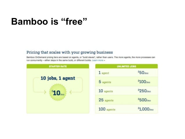 """Bamboo is """"free"""""""