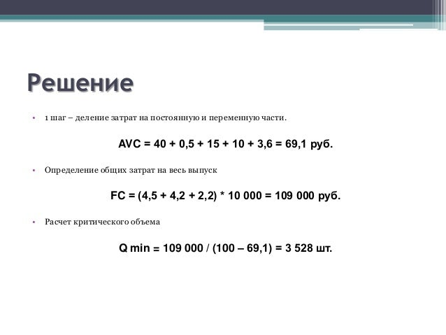 Формула Объема Выпуска Продукции
