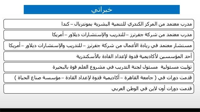 دورة أساسيات القيادة م.صادق يونس Slide 2