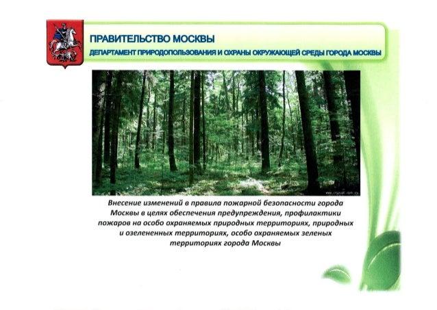 Внесение изменений в правила пожарной безопасности города Москвы