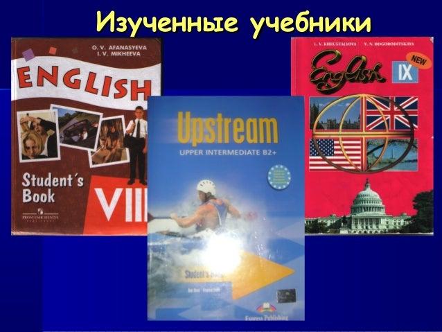 Изученные учебникиИзученные учебники